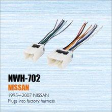 Se Enchufa en el Arnés de la Fábrica Para 1995 ~ 2007 Nissan-amplificador de Potencia de Radio Adaptador de cable/Mercado de accesorios Estéreo Cable/DIN Macho A ISO