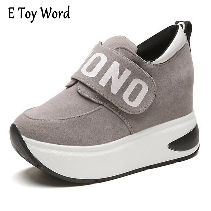 E TOY WORD Flat Shoes Women's Sneakers Autumn Platform Shoes Heigh Increasing Zapatos Mujer Heel Casual Shoes Woman Size 35-40 segal business writing using word processing ibm wordstar edition pr only