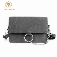 LUDESNOBLE Brand New Crossbody Bags For Women Messenger Bags Shoulder Bag Female Chain Solid Flap Sac