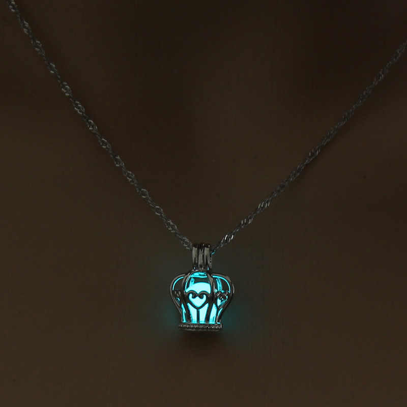Груша клетка корона ожерелье кулон аксессуары эфирные масла медальон со светорассеивателем для ночного светящегося шара устричная жемчужина Женская девочка