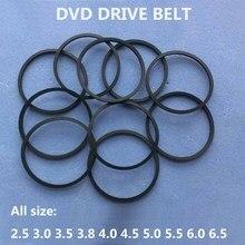 10ピース/バッグdvdベルト25/30/35/38/45/50/55ミリメートル60ミリメートル65ミリメートル70ミリメートル80ミリメートル85ミリメートルカセットテープマシン平方ベルト盛り合わせ