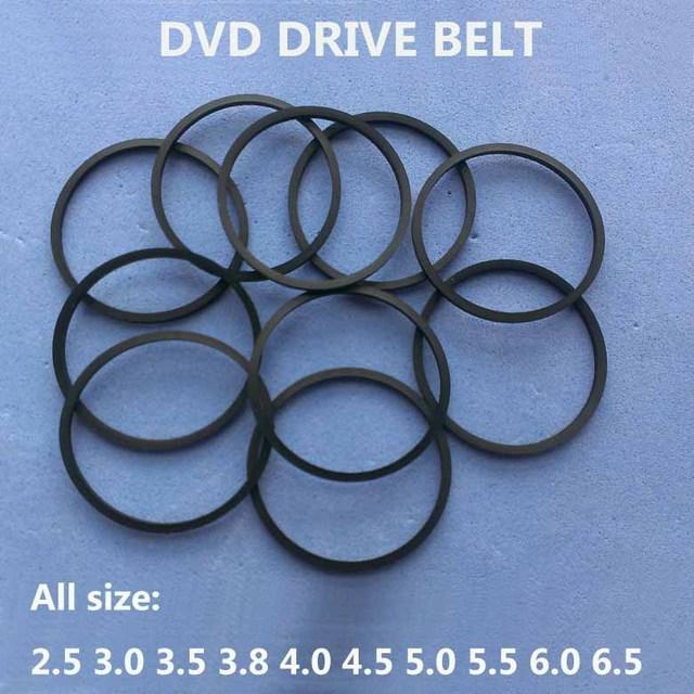 10 pçs/saco dvd correia 25/30/35/38/45/50/55mm 60mm 65mm 70mm 80mm 85mm fita cassete máquina quadrada correia sortidas