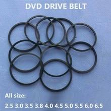 10 unids/bolsa de cinturón para DVD, 25/30/35/38/45/50/55MM 60MM 65MM 70MM 80MM 85MM, máquina de cinta de Cassette, cinturón cuadrado surtido