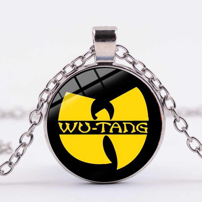 SONGDA 2019 חדש כניסות Wu-טאנג שבט שרשרת שרשרת היפ הופ מוסיקה להקת לוגו טרנדי מודפס זכוכית אמנות תליון שרשרת גברים נשים