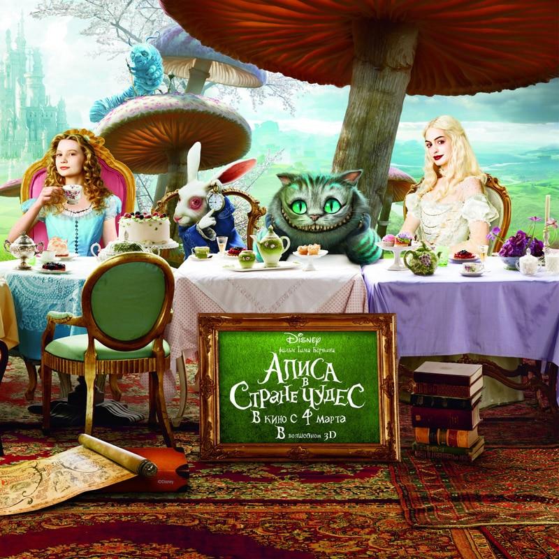 Fantasy Custom HD Photo 3D Wallpaper For Walls Kids Room Bedroom TV Background Wall Covering Alice In Wonderland Mural Wallpaper