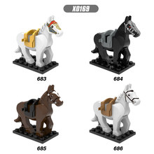 Single Sale Hobbit Lord of the Rings White Blown Black Horse Bricks Building Blocks Figures Bricks Dolls Toys For Children(China)
