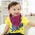 2 Lados Utilizable Algodón Suave Para Niños Toddler Bandana Baberos Eructo Bebé Recién Nacido Triángulo Bufanda Babero Fresco Accesorios Toalla Infantil de La Saliva