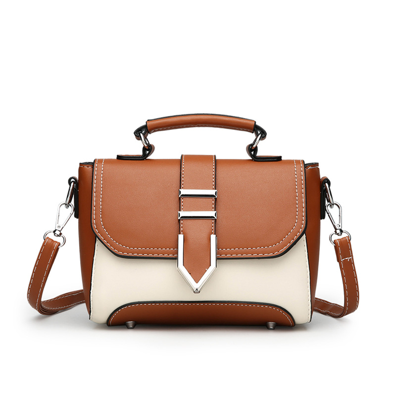2019 New Women 39 s Bag Fashion Wild Small Fresh Small Square Bag Hit Color Portable Fashion Ladies Shoulder Bag in Shoulder Bags from Luggage amp Bags