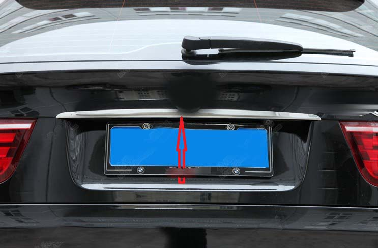 Car Styling decoration Stainless Steel Rear Trunk molding Lid Cover trim Chrome for BMW X5 E70 X6 E71 car auto accessories rear trunk molding lid cover trim rear trunk trim for nissan sunny versa 2011 abs chrome 1pc per set