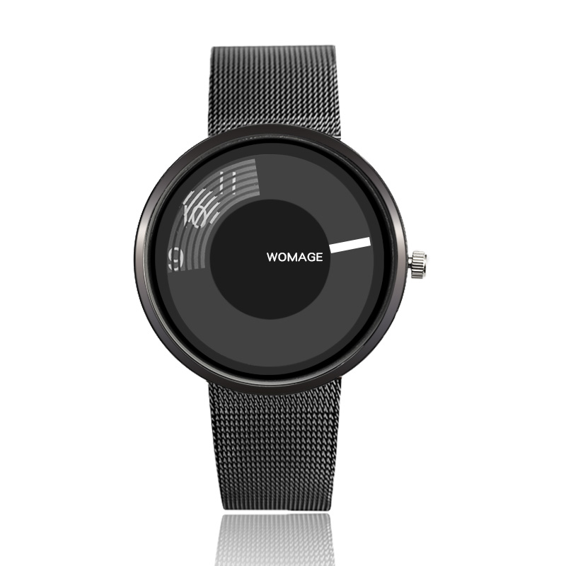 WoMaGe brand men women unique black stainless steel sports watch casual fashion quartz watches hour relogio masculiono free drop shipping 2017 newest europe hot sales fashion brand gt watch high quality men women gifts silicone sports wristwatch