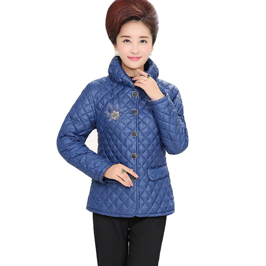 Kadınlar Bayanlar Kış Coat Tam Kollu Kapşonlu Kalın Düğme Nakış Yüksek Kalite Moda Katı Ceket Büyük Boy Parkas