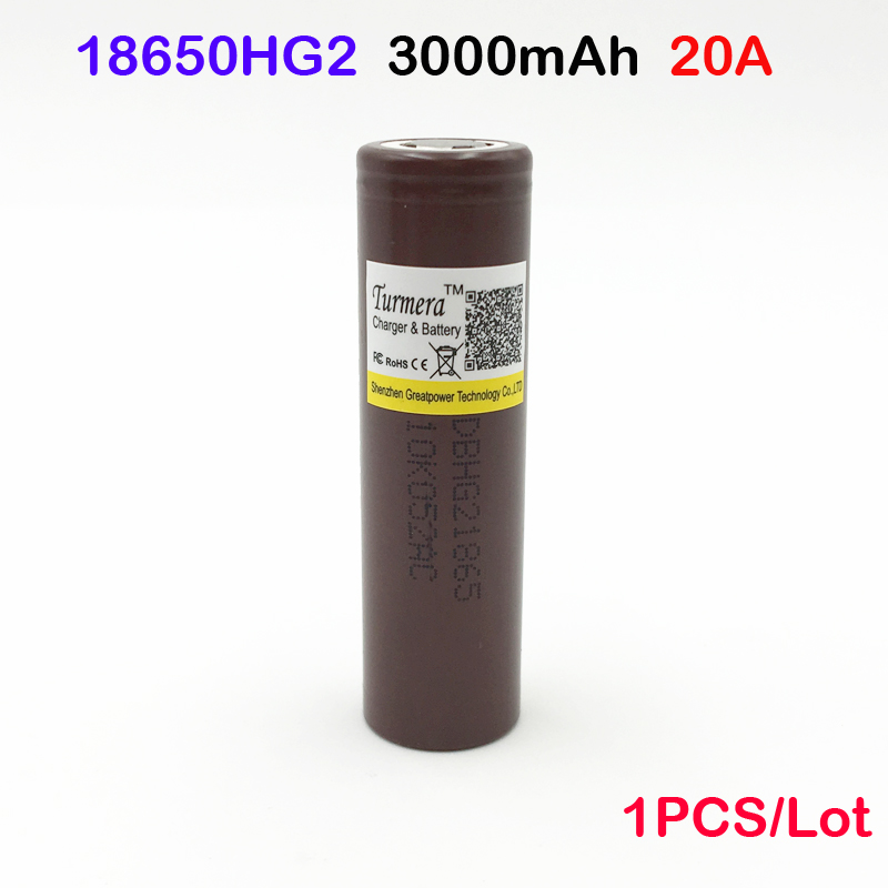 18650 HG2 3000mah electronic cigarette Rechargeable batteries power high discharge 20A large current Vape mod power 1pc withcase аккумулятор 18650 lg hg2 3000 mah 20a