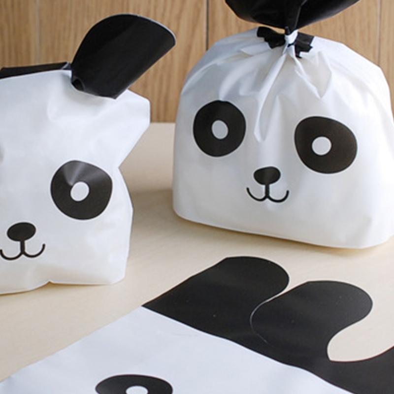Adeeing 50pcs/lot Cute Panda Plastic Candy Biscuit Packaging Wrapping Treat Gift Bag  New Year