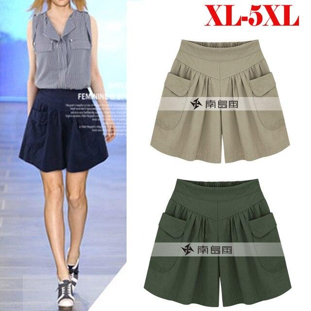 European American New Fashion Summer Womens Casual Shorts Large Size Shorts XL-5XL Comfortable Breathable Shorts 110Kg 2