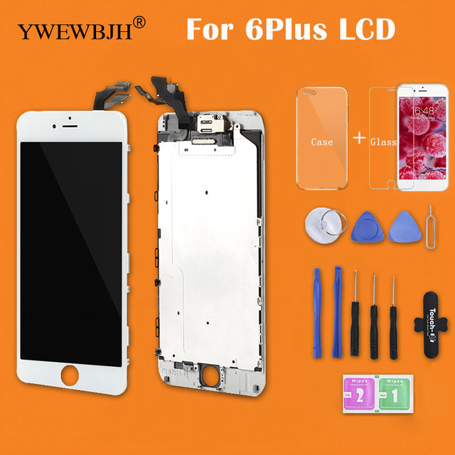 US $25 19 10% OFF AAA No Dead Pixel For iPhone 6 Plus LCD Full Assembly  With Camera Without Home Button Touch Screen Display Replacement  Completed-in