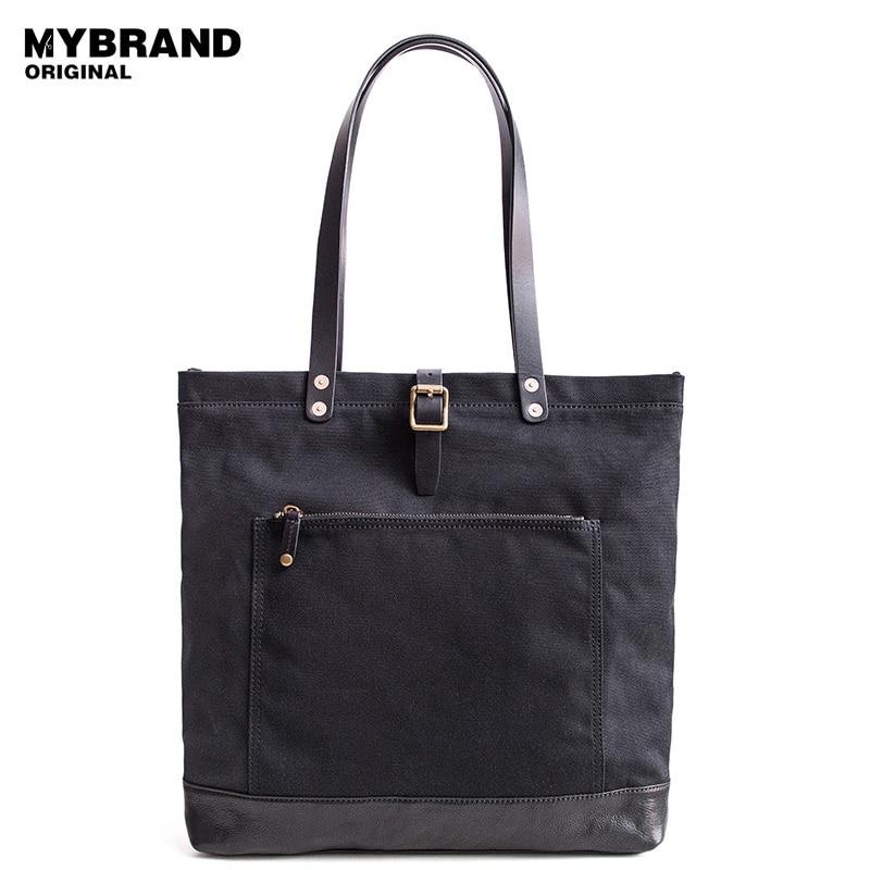 MYBRANDORIGINAL handbags high quality canvas tote bags fashion men casual tote bag men's shoulder bags vintage bag for man B130