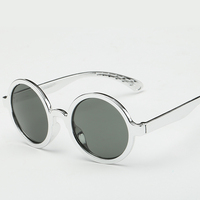 Laura Fairy Fashion Style Round Cute Sun Glasses Brand Designer Cute Frame Round Sunglasses lunettes de soleil femme luxe marque