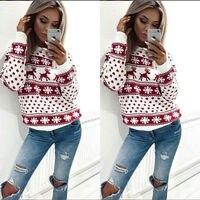 2018 для женщин леди Джемпер Пуловер Топы корректирующие пальто Рождество Зима s Дамы Теплый Краткое свитеры для костюмы 2 цвета 4 разме