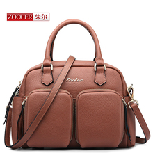 ZOOLER 2016  Travel Genuine leather Bags Large Capacity Women Luggage Travel bags luxury brand shoulder bags for ladies#BC-8165