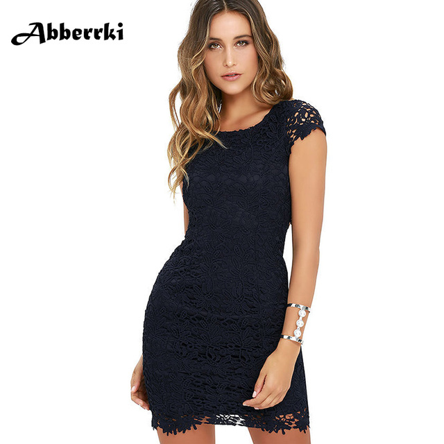 2fb98080c3 Women Summer White Hollow Out Lace Dress Sexy Bodycon Black Party Dress  Casual Short Sleeve Backless Pencil Vestidos Ball Gown