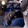Комплект постельного белья с принтом черного кота  пододеяльник с принтом  пододеяльник с рисунком королевы  постельное белье