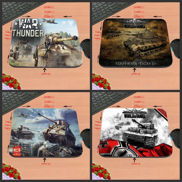 World Of Tank Customized Support Gaming Rubber Mouse Pad aming ear Anti-Slip...