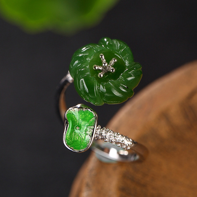 Natural Stone Jade Ring4