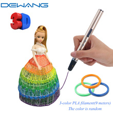 DEWANG 7th Generation 3d Pen Super Slim Light Lapiz Smart Magic for Children Christmas Birthday Gifts PLA ABS 3 d