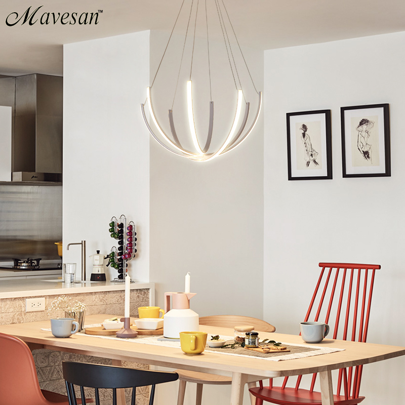 LED Pendant Light For Living Room Dining room Led Lustres Modern LED Pendant Lamp Home Hanging Mount Ceiling lamp AC90-260V ultra thin pendant lights cord lamp dining room lustres 90 260v chandelier ce ul for kitchen led ceiling fan hang fixtures