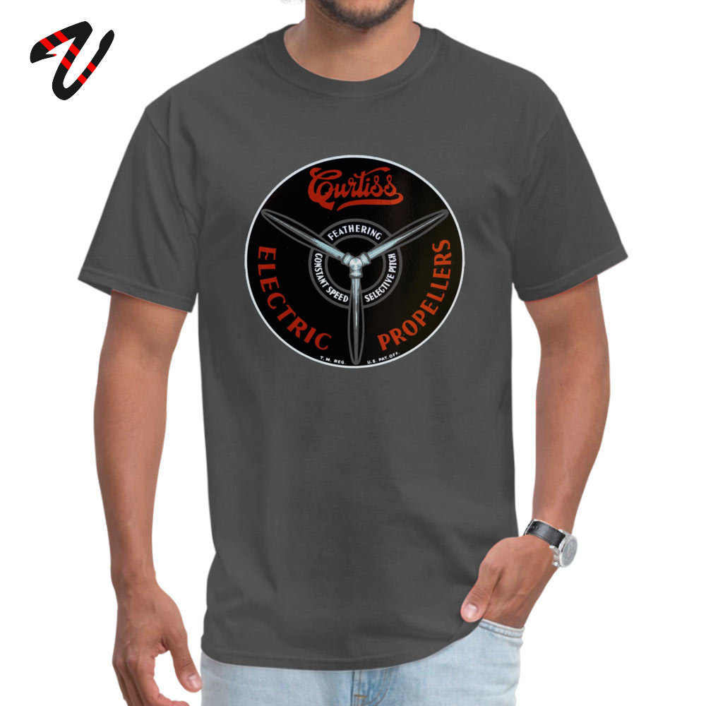 Curtiss Propeller Logo Repro 2019 Geek T Shirt Round Neck Father Day Pure Cotton Short Sleeve T-Shirt for Men Europe T Shirt Curtiss Propeller Logo Repro 1283 carbon