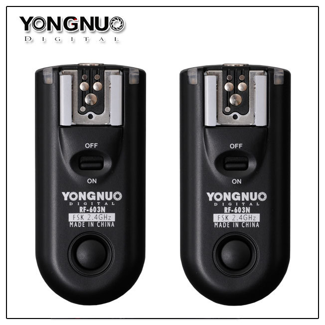 Yongnuo RF 603 C3 RF603 C3 RF 603 Flash Trigger 2 Transceivers for CANON 7D 1D