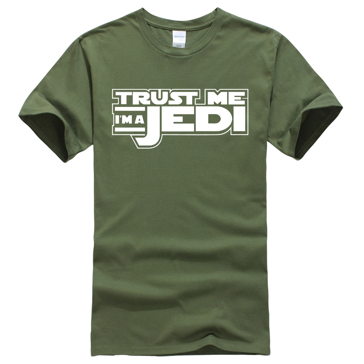 TRUST ME I AM JEDI print 2017 summer man's T-shirt fashion casual short sleeve T-shirt men harajuku kpop jersey homme crossfit