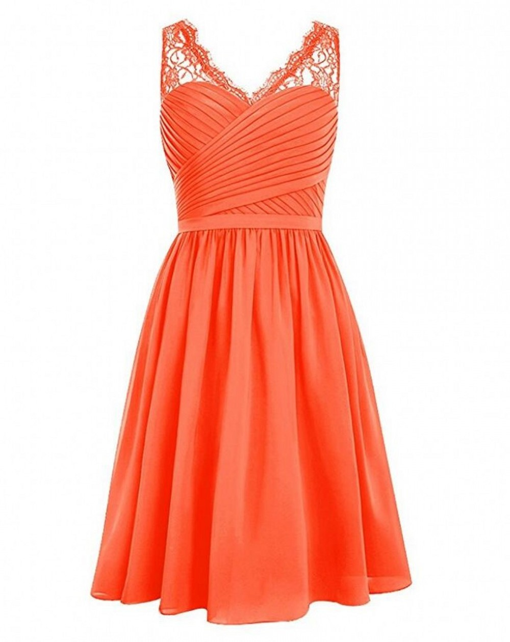 Hot sale cheap orange black pink bridesmaid dresses v neck for Pink and orange wedding dresses