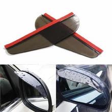 цена на 2Pcs/pair Car Rearview Mirror Rain Eyebrow Universal Auto Rainproof Blade Sun Visor Shade Snow Rain Cover Shield Car Accessories