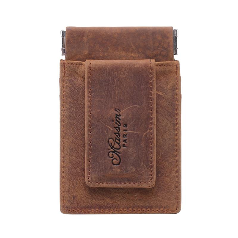 MS Vintage Men Crazy Äkta Läder Plånbok Business Casual Kreditkort - Plånböcker - Foto 2