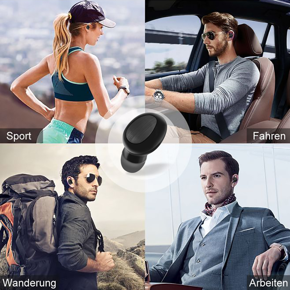 TWS B20 Wireless Stereo Bluetooth In ear Headset with Microphone Bluetooth 5 0 Watrproof Earphones for iphone Android in Bluetooth Earphones Headphones from Consumer Electronics
