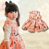 2016 Brand Toddler Girl Dresses Children Clothing Baby Girls Dress Kids Clothes Painted Princess Dress