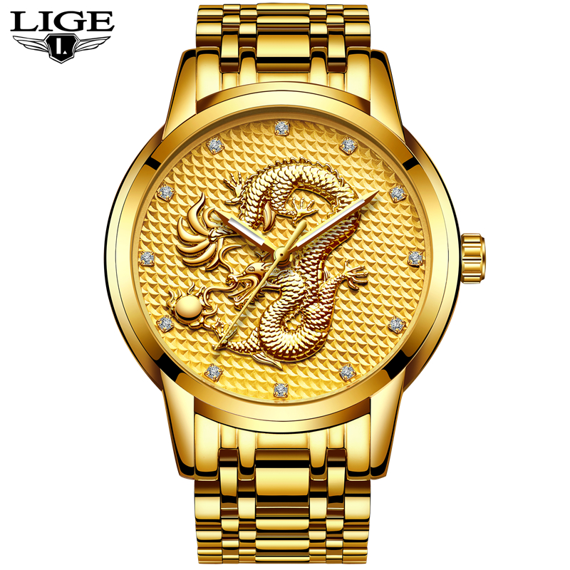 LIGE Men Watches Top Brand Luxury Full Steel Clock Sport Quartz Watch Men Casual Business Waterproof Watch Man Relogio Masculino lige mens watches top brand luxury man fashion business quartz watch men sport full steel waterproof clock erkek kol saati box