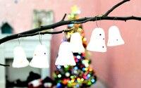 120 pçs/lote Mini 5 cm Santa Jingle Bells Chrsitmas Pendents Árvores Espuma Pendurado Sino Festival Fontes do Partido Banquete HX572