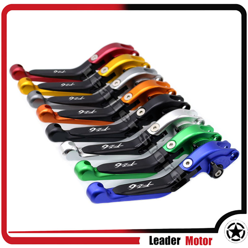 For YAMAHA FZ6 FAZER 2004-2010 FZ6 FZ-6 2009-2015 Motorcycle Accessories Folding Extendable Brake Clutch Levers 20 Colors laser logo fz6 for yamaha fz6 fazer 2006 2010 2007 2008 2009 cnc motorcycle frame crash slider protector drop resistance