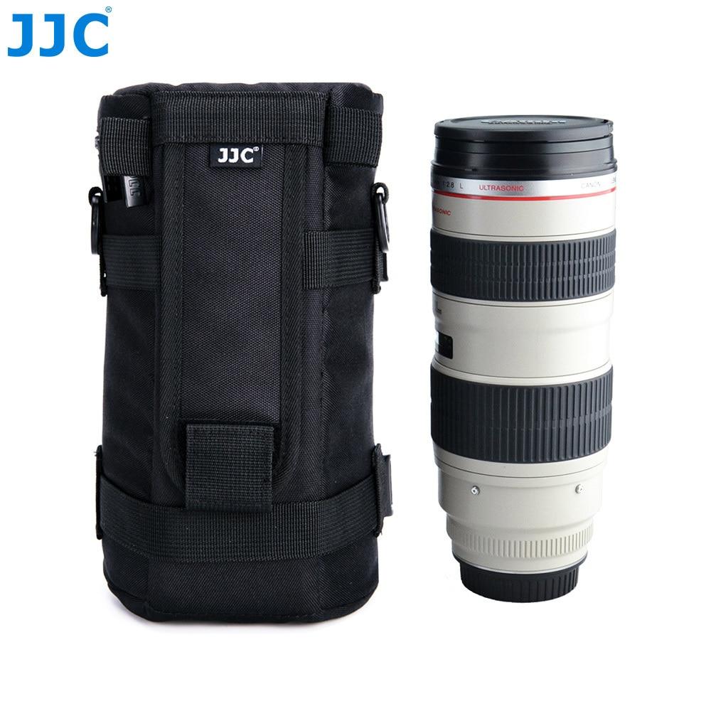 JJC DLP-7 Waterproof Nylon Deluxe Lens Case Pouch /& Strap Fits Lens below 310mm