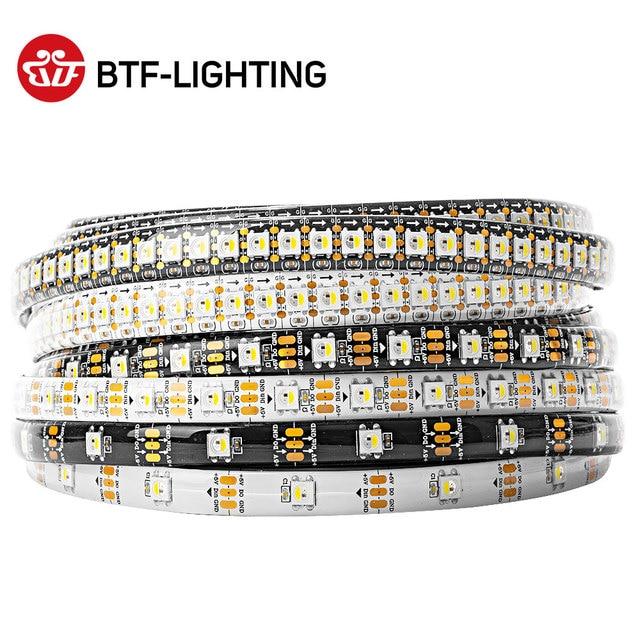 Wholesale SK6812 RGBW (Similar WS2812B) DC5V 4 in 1 1m/4m/5m 30/60/144 leds/pixels/m Individual Addressable Led Strip IP30/65/67
