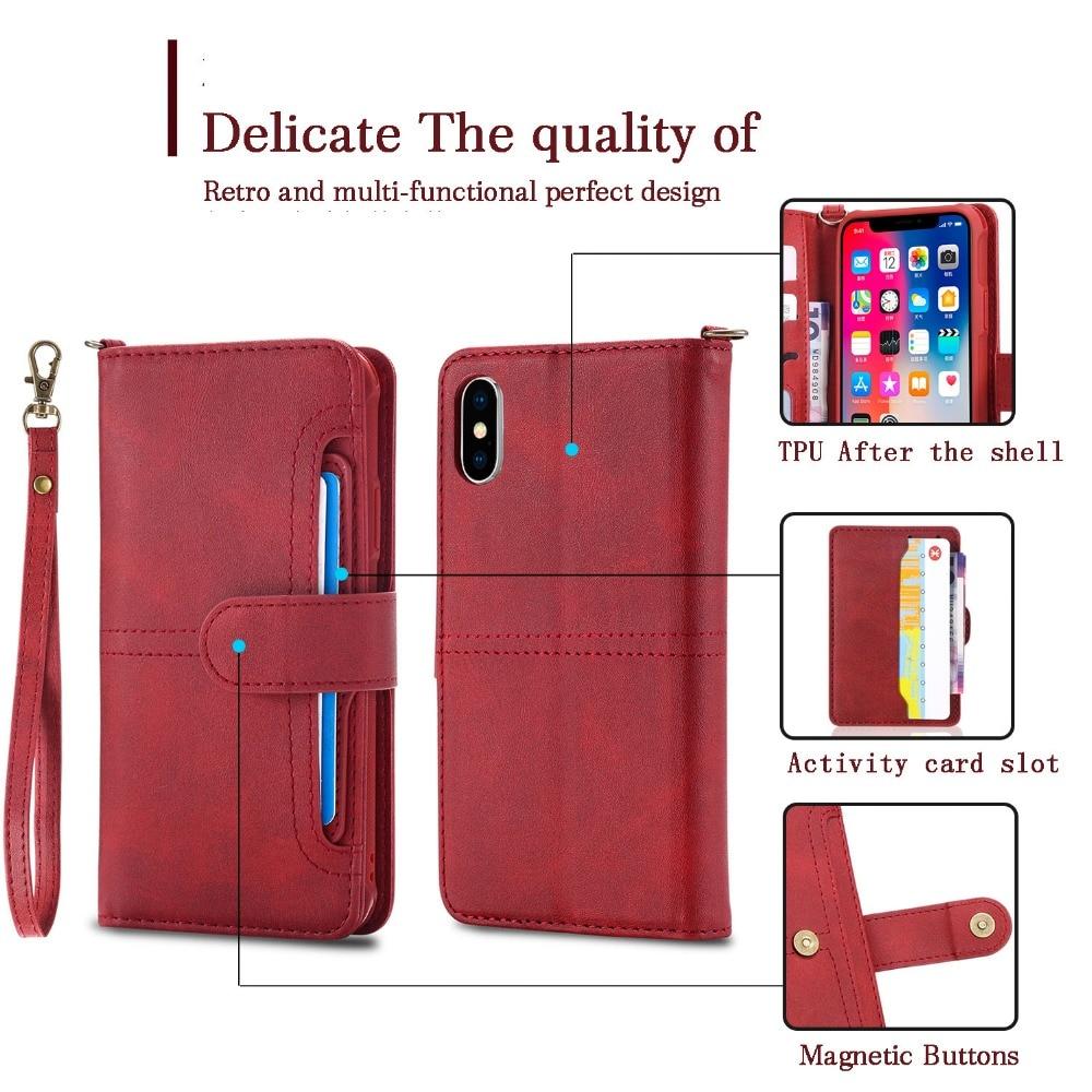 retro multi functional phone case for iPhone 8 7 Plus