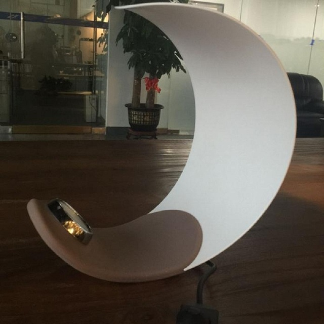 Creative Moon Led Metal Table Lamp Reading Beside Table Light