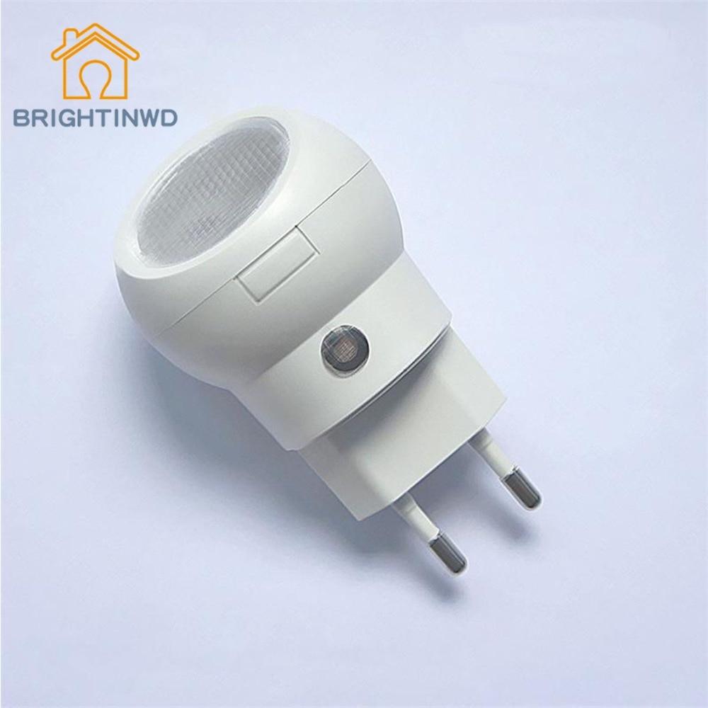 Automatic led energy saving night lamp - 360 Degree Rotating 0 1w Bulb Lighting Eu Plug Led Night Lamp Auto Sensor Light Control