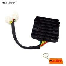 Desempenho 12v 6 cabos dc preto regulador de tensão, rectificador para gy6 150cc 200cc 250cc atv quad go motocicleta do corpo