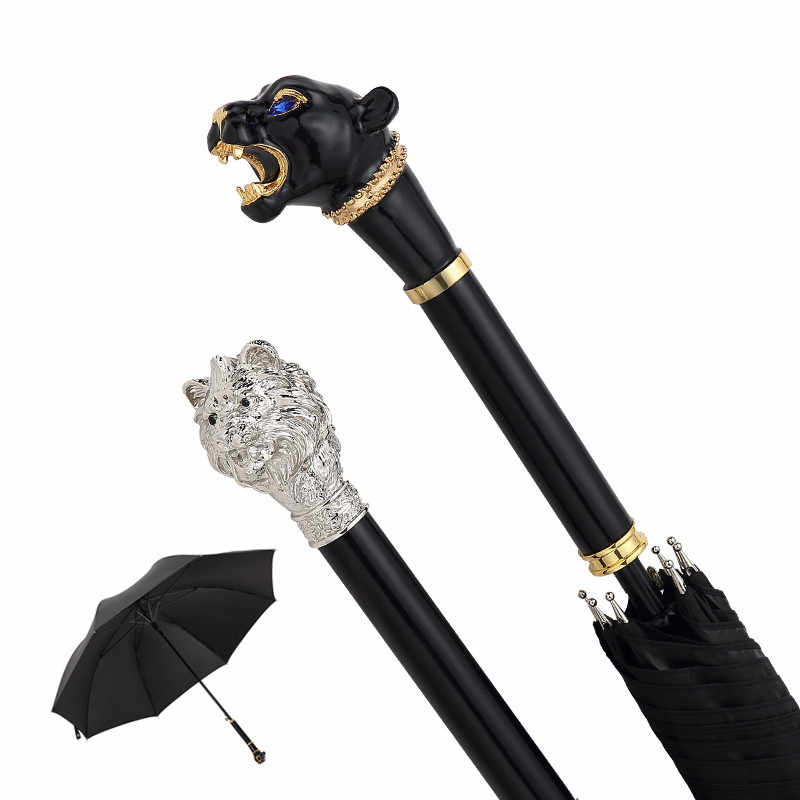 Gentleman Umbrella Rain Women Men Parapluie Umbrella Creative Leopard Lion Paraguas Elegant Umbrellas For Stage Show Parasol