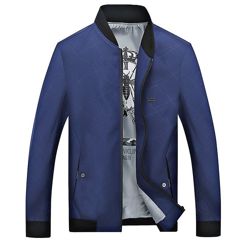 Casual Taille 4xl Vestes Hommes Pardessus Printemps 6xl 2 Automne Col Masculine 4 Montant Plus Veste 1 La Manteau Zipper Solide 5xl 7xl 3 4n8qT57T