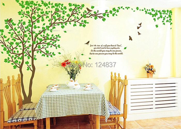 417 210cm Extra Large Tree Wall Sticker Home Decor 2014 New Stickers Decals Home Decoration Diy