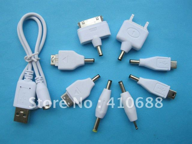 30 set USB Male to 8 DC Power Plug Charger Adapter Cable for Mobile ...